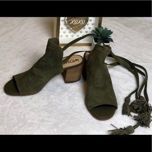 Sam Edelman Women's Sampson Peep Toe Sandal Green